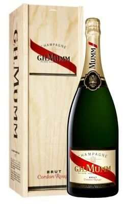 G.H. Mumm `Cordon Rouge` Champagne NV (1 x 1.5L In Wooden box), France.
