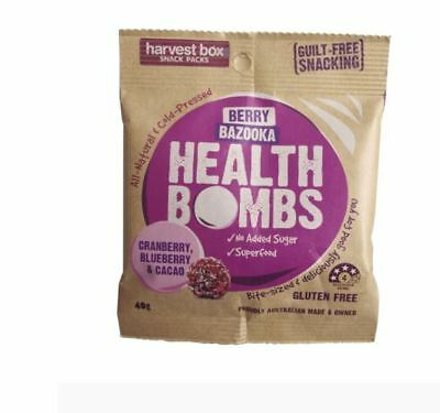 20 x 40g HARVEST BOX Berry Bazooka Health Bombs ( cranberry blueberry cacao )