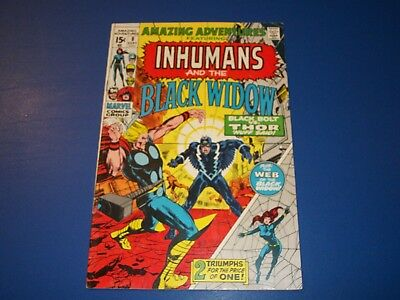 Amazing Adventures #8 Inhumans Black Bolt vs Thor Key Black Widow Adams