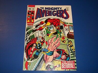Avengers #66 Silver Age 1st Adamantium VGF Wow Key Barry Smith