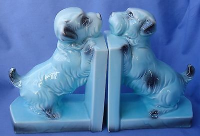 Sealyham Cesky Terrier Dog Bookends Germany 7""