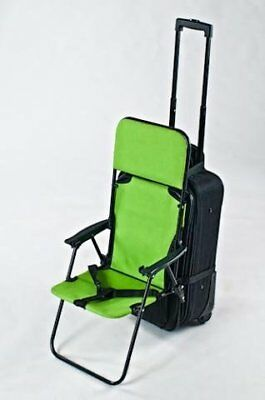 """Transformed into a snap ♪ stroller to carry bag! """"Ride  Carry On"""" - lime gr"""