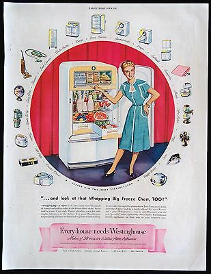 1947 Westinghouse Two-Temp Refrigerator Home Appliances Magazine Print Ad