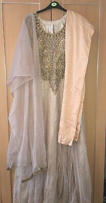 Indian Wedding Long Maxi Dress  Shalwar Kameez Anaarkali Kaftan Tunic Abaya M/L