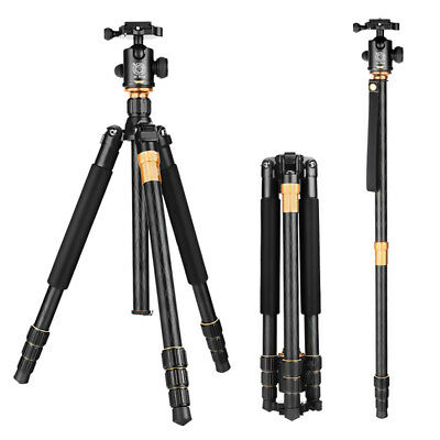 Professional Q999 Monopod Tripod Ball Head+Bag for Canon Nikon Sony DSLR Camera