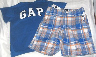 NWT Boys 6 GAP 2 Pc Outfit Shorts and Short Sleeve Logo Top NEW