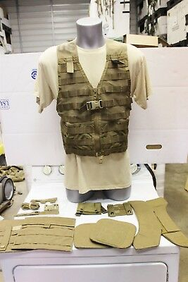13 PIECE COYOTE BROWN MARINE FIGHTING LOAD CARRYING MOLLE II VEST $19 Read!