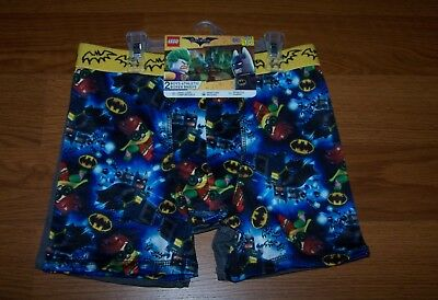Size (10) Boys Athletic Boxer Briefs 2-Pk Lego The Batman Movie DC Comics
