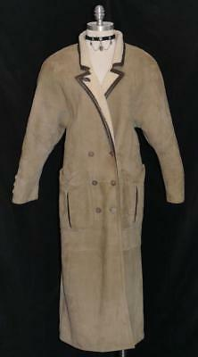 ZEILER LEATHER Duster Over COAT German Gorsuch Western Riding LONG B38 8 S