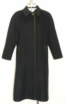 DARK BLUE ~ Soft Loden WOOL Women Winter German Dress Long Over COAT Jacket 14 L