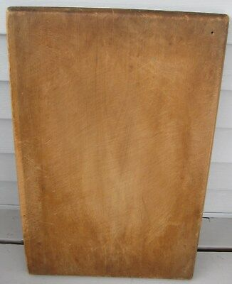 Antique Wooden Bread Board/Cutting Board Thick, Heavy Well Made Nice Patina