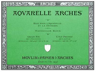 Arches Aquarelle Watercolour Paper 300gsm Cold Pressed or Rough - Water Colour