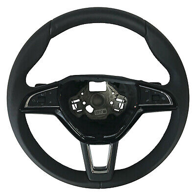 New DSG Steering Wheel Black Leather+Multifunction Skoda SuperB Kodiaq3V0419091S