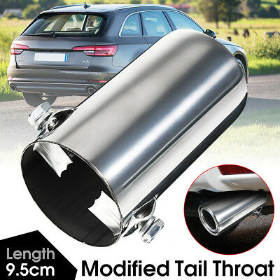 New Stainless Steel Car Rear Round Exhaust Muffler Pipe Tip Tail Throat Chrome