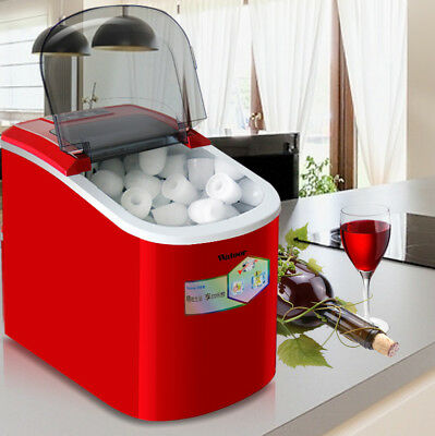 220V Portable Countertop Ice Cube Maker Commercial & Household IceCube Machine