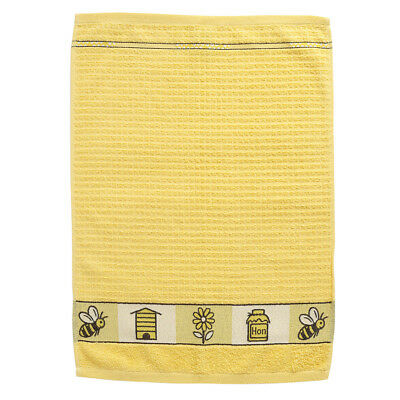 Stow Green Terry Tea Towel Bees Yellow Bumblebee Honey Thick Cotton Dish Cloth
