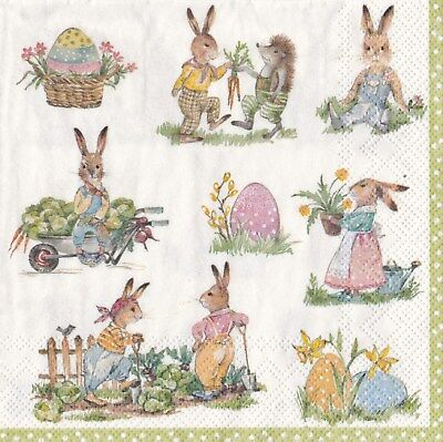 20 Paper Napkins Ideal Home Range Paper Napkins Story of Bunnies Easter Eggs