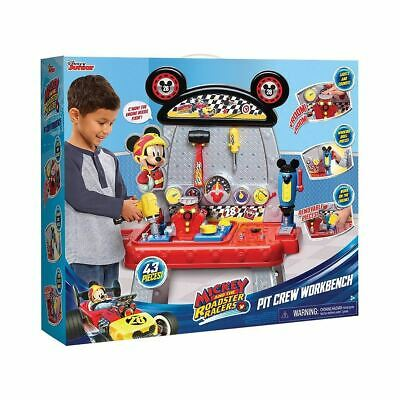 Disney Junior Mickey Roadster Racers Pit Crew Workbench Toy 43 Pieces Ages 3+