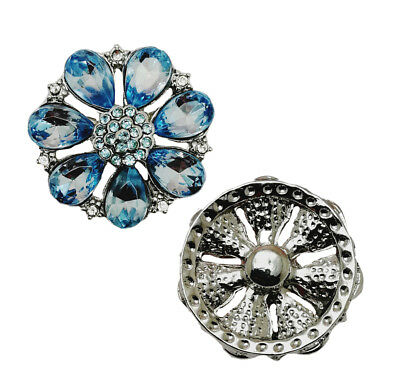 Hot Charm 3D Crystal Chunk  Snap Button Fit For Noosa Necklace//Bracelet Jewelry