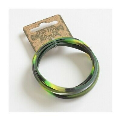 4 x Boys Camouflage Rubber Silicone Bracelets Wristbands Party Bag Fillers