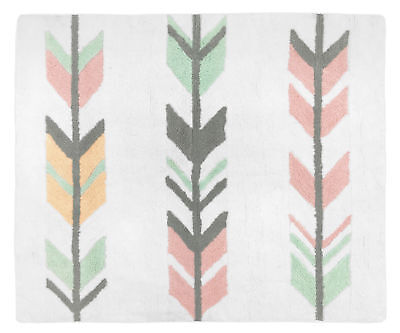 Girl Baby Kids Floor Rug For Sweet Jojo Grey Coral Woodland Arrow Bedding Set