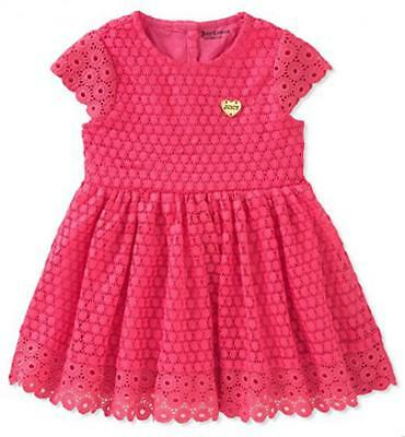 Juicy Couture Big Girls Fuchsia Dress Size 7 8/10 12 $75