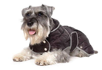 Ancol Dog Coat Black Diamond Quilt Jacket Extra Warmth Muddy Paws