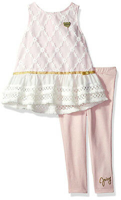 Juicy Couture Big Girls Pink 2pc Legging Set Size 7 8/10 12 $75