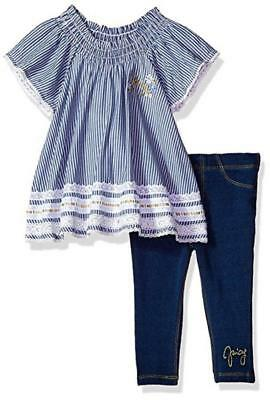Juicy Couture Girls Navy 2pc Jegging Set Size 2T 3T 4T 4 5 6 6X
