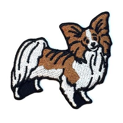 Papillon Iron On Embroidered Patch