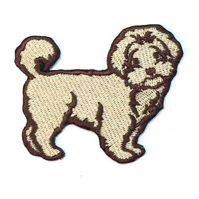 Maltipoo Iron On Embroidered Patch