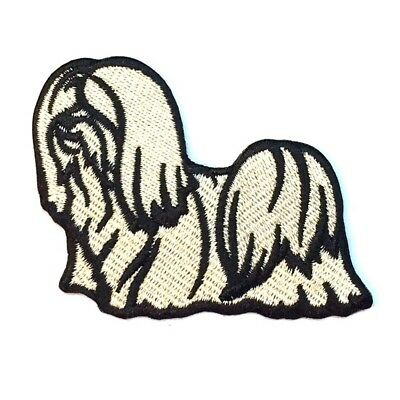 Lhasa Apso Iron On Embroidered Patch
