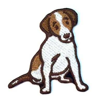 Jack Russell Terrier Iron On Embroidered Patch