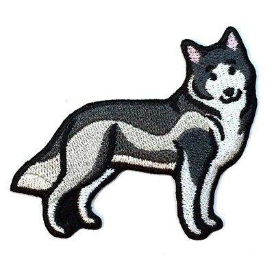 Husky Iron On Embroidered Patch
