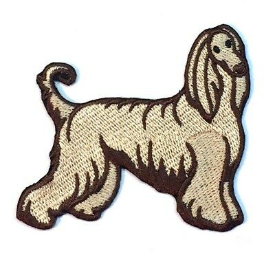 Afghan Hound Iron On Embroidered Patch