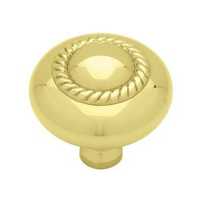 "P26056-PL 1 1/2"" Solid Brass Rope Design Cabinet Drawer Pull Knob"