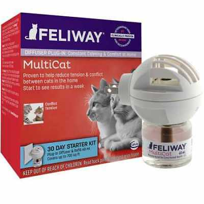 FELIWAY MultiCat Starter Kit for Cats Diffuser and 48 ml vial