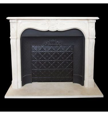 Louis XV Provincial Marble Mantle, Egyptian Beige