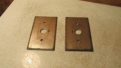 1 Antique 1899 Bryant Nickel Plated Cast Brass Switch Plate