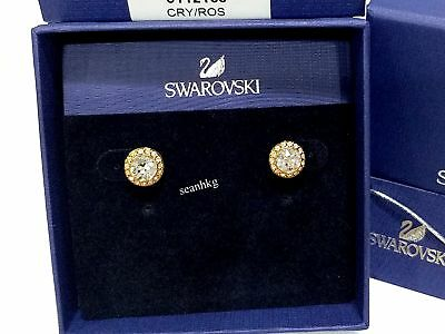 Swarovski Angelic Pierced Earrings Stud Ros Clear Crystal Authentic Mib 5112163