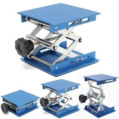 "4"" Aluminum Lab Lift Lifting Platforms Stand Rack Scissor Jack Bench Lifter Tabl"