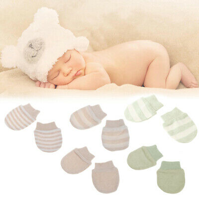 Baby Anti Scratching Gloves Newborn Protection Face Cotton Scratch Mittens New