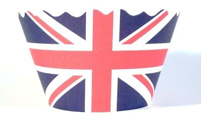 Swift Union Jack  Jubilee Cupcake Wrapper by Bella Cupcake Couture  Pack of 12