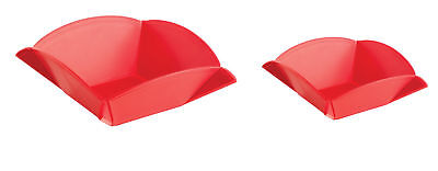 Mastrad Set of 2 Origami Boards Red Cutting Chopping Serving Bowl Dish Salad