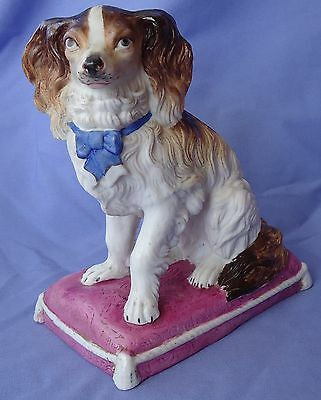 "Antique Cavalier King Charles Spaniel Dog 7"" Heubach Germany"