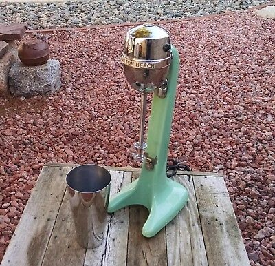 Vintage Jadeite Hamilton Beach Two Speed Malt Mixer Model 30 VG Cond. Milkshake