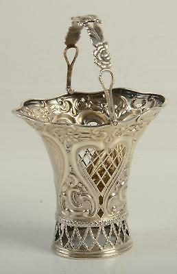 #1430 Theodore Starr Sterling Silver Basket With Cherubs And Grapes #2302 Furniture