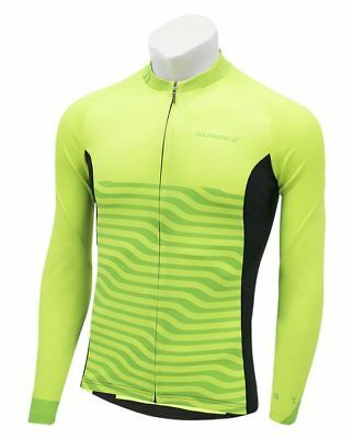 5b93e1d40 2018 Atom Classic Long Sleeve Cycling Jersey in Neon HiVis Yellow by Suarez