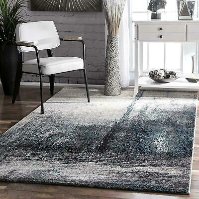 Nuloom Contemporary Modern Abstract Area Rug In Grey Blue White