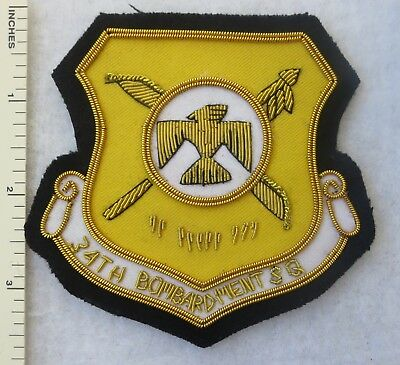 34th BOMB SQUADRON US AIR FORCE Bullion PATCH Custom Sewn for USAF VETERANS